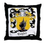 Vogler Family Crest Throw Pillow