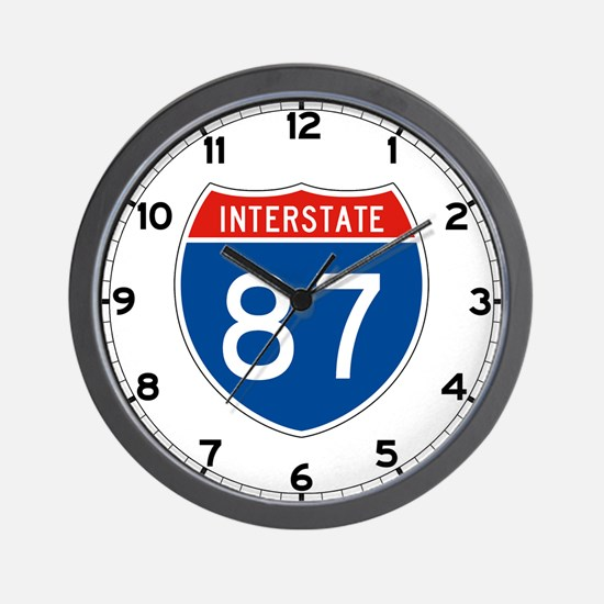 Interstate 87, USA Wall Clock