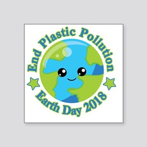 Earth Day 2018   End Plastic Pollution Sticker