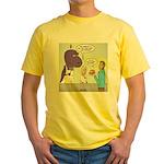T-Rex Customer Service Yellow T-Shirt