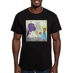 T-Rex Customer Service Men's Fitted T-Shirt (dark)