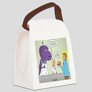T-Rex Customer Service Canvas Lunch Bag
