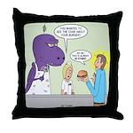 T-Rex Customer Service Throw Pillow