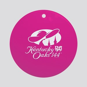 Official KY Oaks Logo 144 Round Ornament