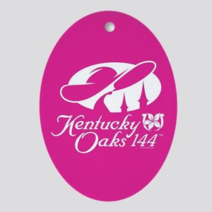 Official KY Oaks Logo 144 Oval Ornament