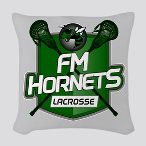 Fayetteville Manlius Hornets L Woven Throw Pillow