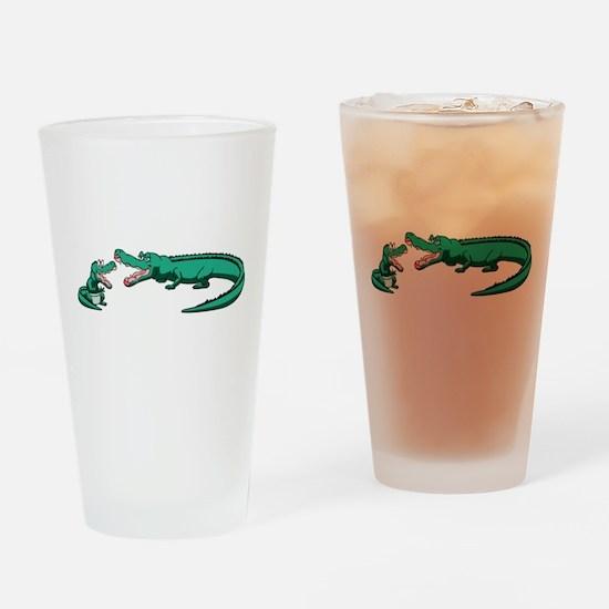 Alligator Family Drinking Glass