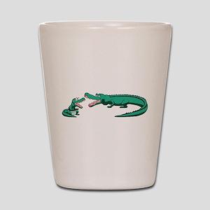 Alligator Family Shot Glass