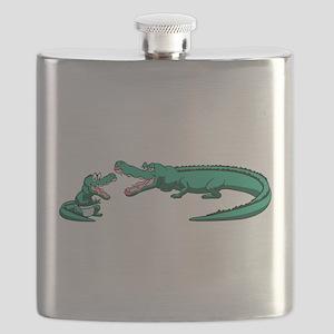 Alligator Family Flask