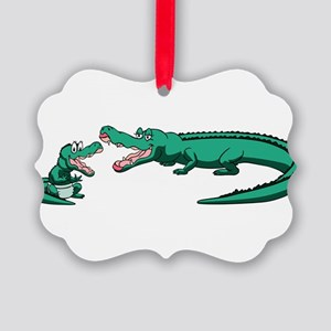 Alligator Family Picture Ornament