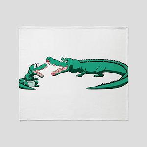 Alligator Family Throw Blanket