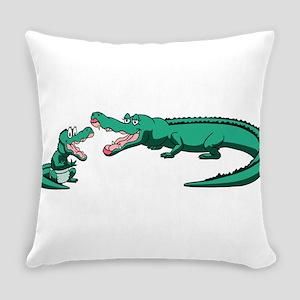 Alligator Family Everyday Pillow