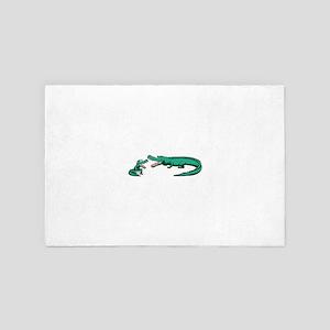 Alligator Family 4' x 6' Rug
