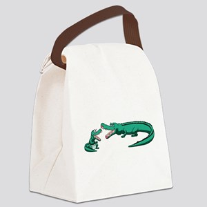 Alligator Family Canvas Lunch Bag