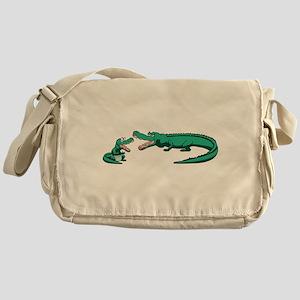 Alligator Family Messenger Bag