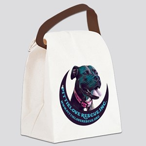 PittieLove Moon Canvas Lunch Bag