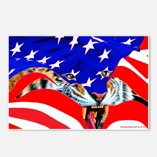 Racing stripes Postcards (Package of 8)