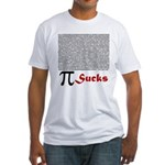 Pi Sucks Fitted T-Shirt