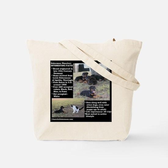 Doberman Characteristics Tote Bag