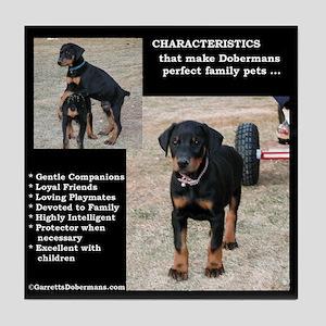 Doberman Characteristics Tile Coaster