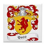 Voss Family Crest Tile Coaster