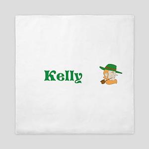 Kelly Custom Name Leprechaun St. Patricks Day Quee