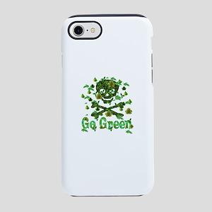 Green Skull and Bones iPhone 8/7 Tough Case