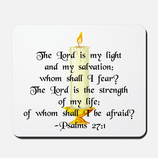 """The Lord is my light..."" Mousepad"