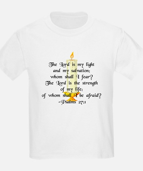 """""""The Lord is my light..."""" Kids T-Shirt"""