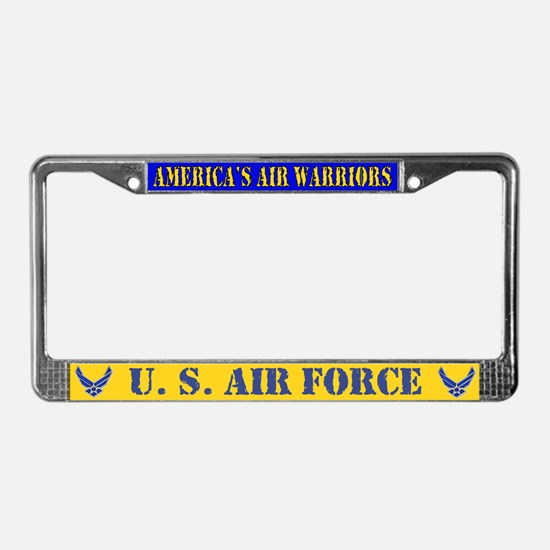 USAF Air Warriors License Plate Frame