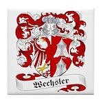 Wechsler Family Crest Tile Coaster