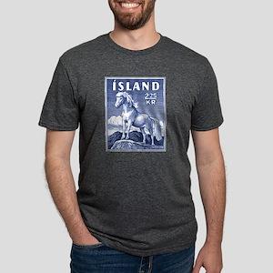 Iceland 1958 Icelandic Horse Postage Stamp T-Shirt