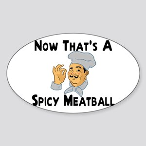 Spicy Meatball Oval Sticker