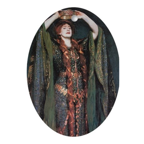Ellen Terry As Lady MacBeth Oval Ornament