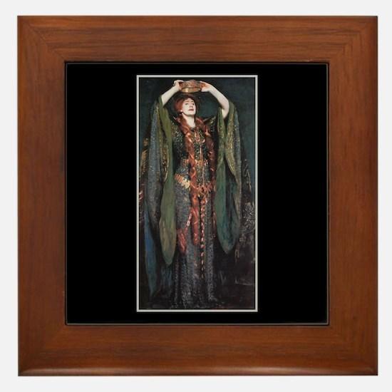 Ellen Terry As Lady MacBeth 2 Framed Tile