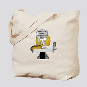 Smiley Massage Fart Tote Bag