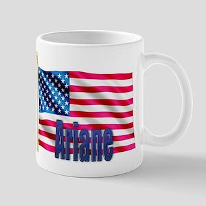 Ariane Personalized USA Flag Mug