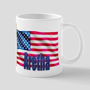 Aretha Personalized USA Flag Mug
