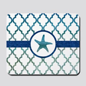 Starfish: Tropical Water Moroccan Patter Mousepad