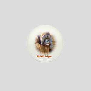 Hot Lips: Orangutan. Mini Button