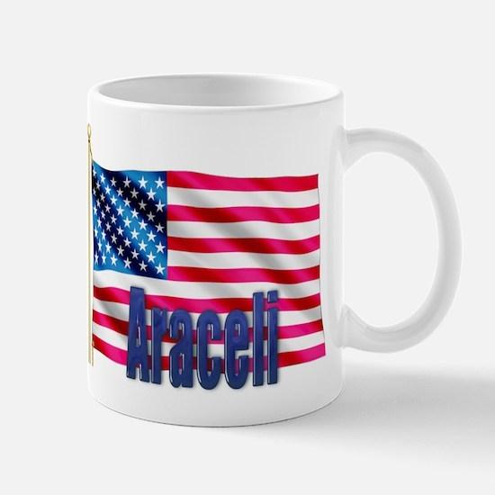 Araceli Personalized USA Flag Mug