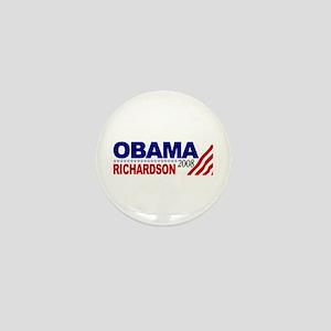 Obama Richardson 2008 Mini Button