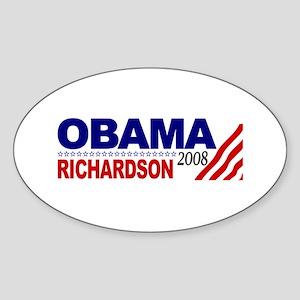 Obama Richardson 2008 Oval Sticker