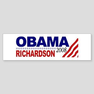 Obama Richardson 2008 Bumper Sticker