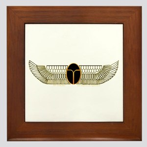 Egyptian Scarab Hieroglyph 2 Framed Tile