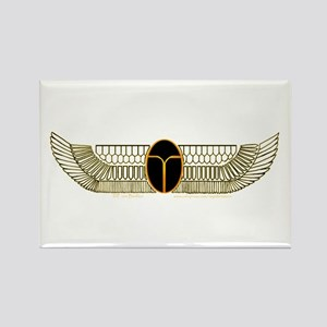 Egyptian Scarab Hieroglyph 2 Rectangle Magnet