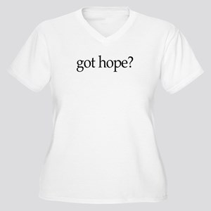 got hope? Women's Plus Size V-Neck T-Shirt