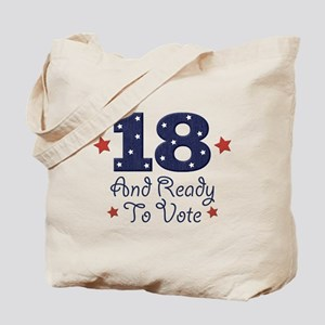 18 And Ready To Vote Tote Bag
