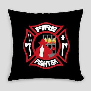 Modern Firefighter Badge Everyday Pillow