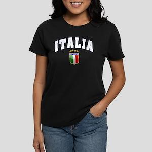 Italia 4 Star European Soccer 2012 Women's Dark T-